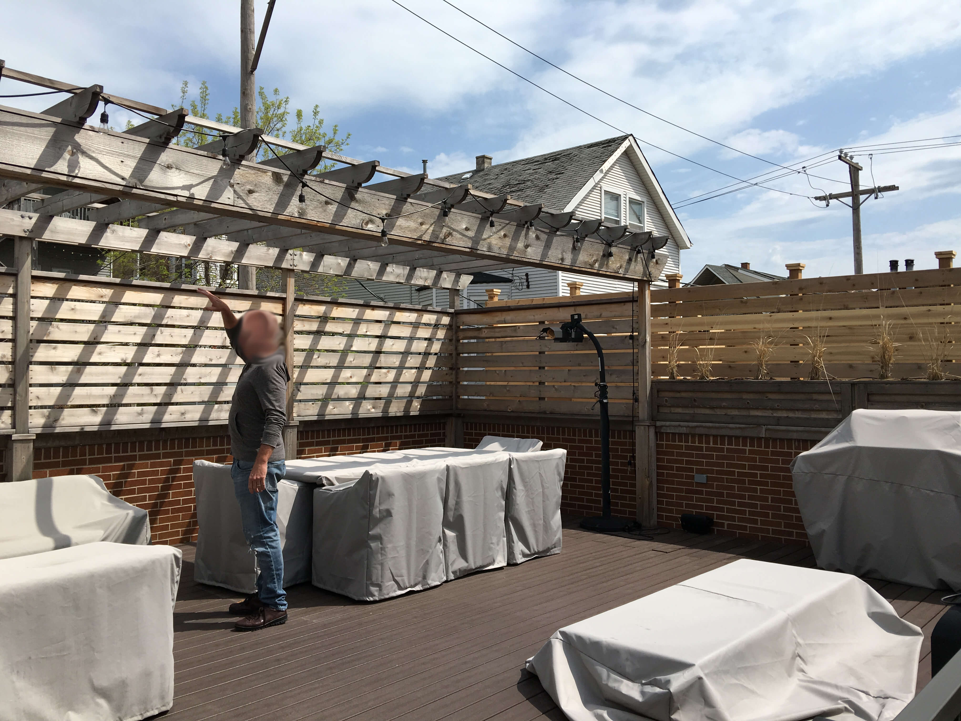 Garage Roof Deck Renovation Lakeview Chicago
