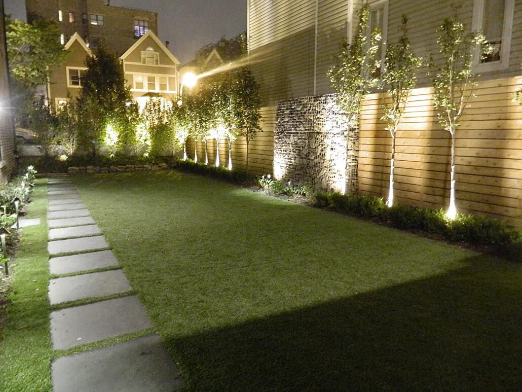 Outdoor Landscape Lighting Bucktown Chicago Urban Rooftops