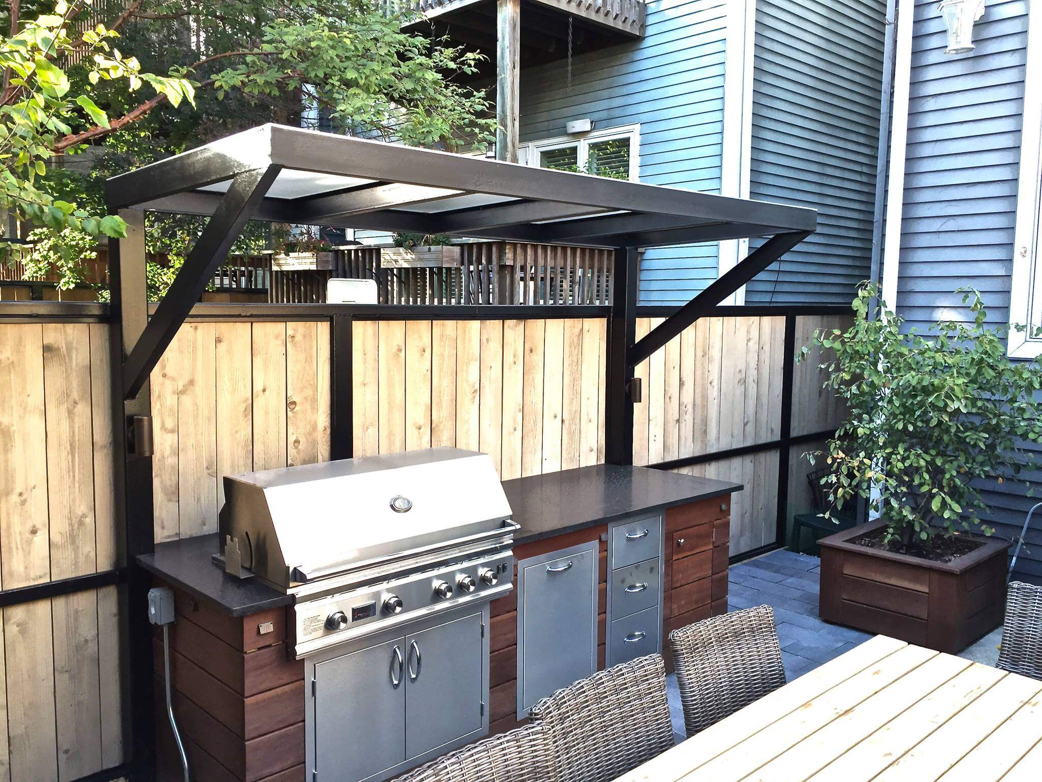 Backyard gas grill install Lincoln Park