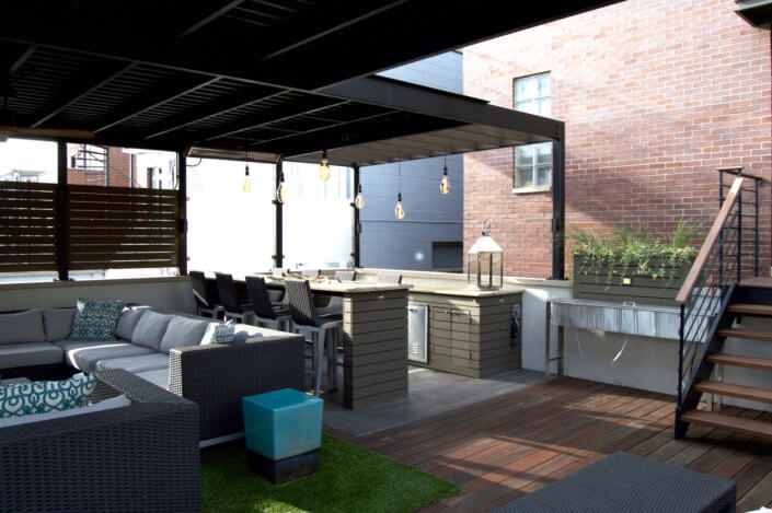 Chicago roof decks pergolas and patios urban rooftops for Patio decks for sale
