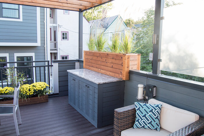 Rooftop Deck With Pergola