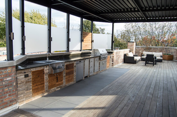 Buffet With Outdoor Kitchen