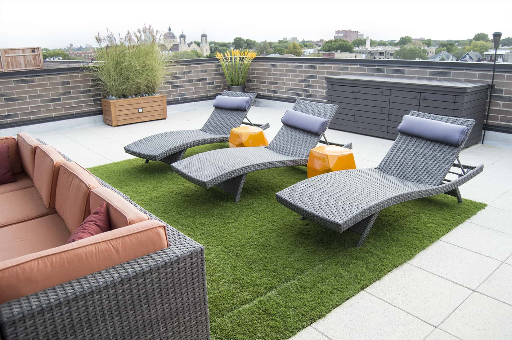 Rooftop Turf Lounge Chairs Uptown Chicago