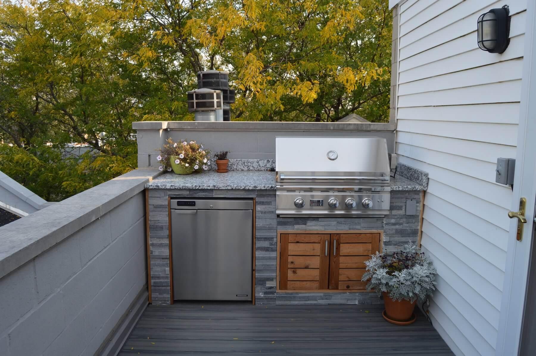 outdoor kitchen rooftop deck chicago il