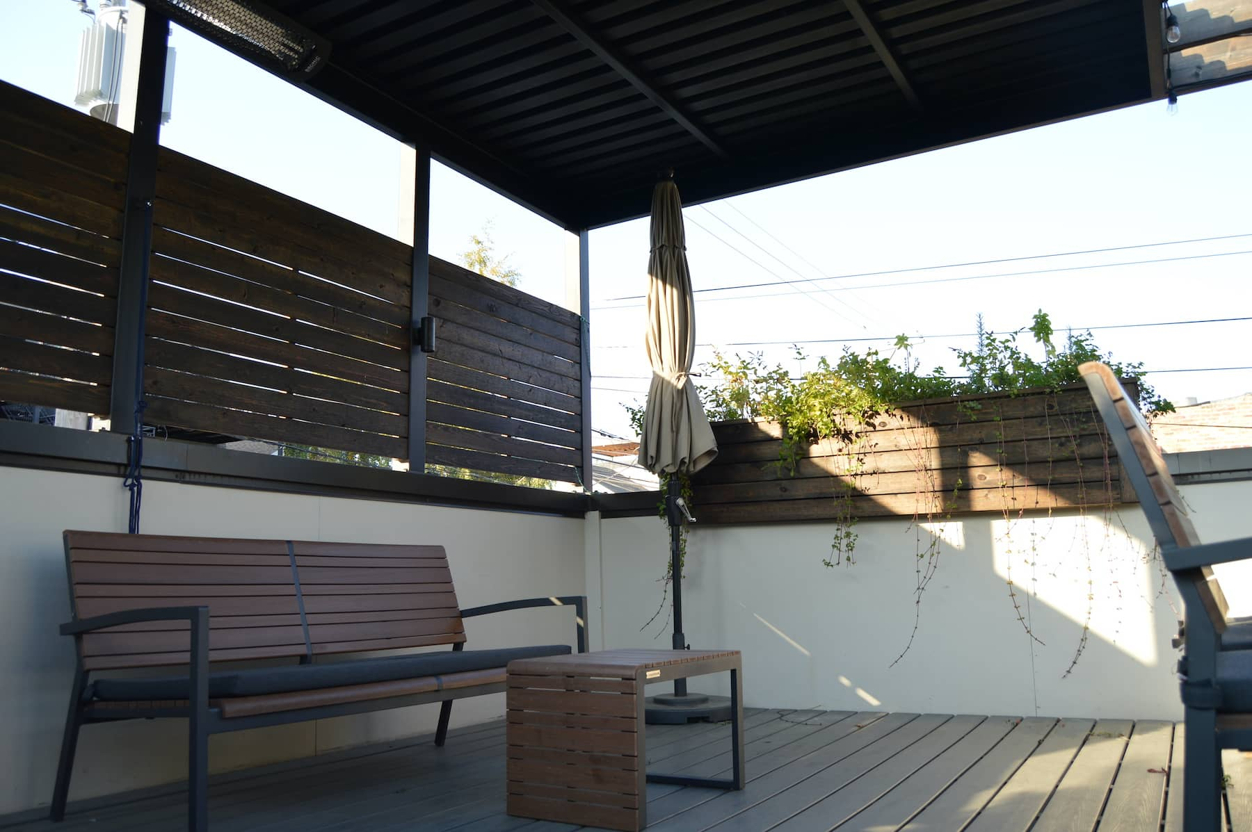 Rooftop decking Privacy Fencing Decking Custom Rooftop Furniture Chicago IL Town West